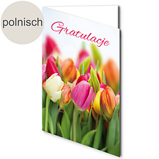 """Polnische Motivkarte: """"Herzlichen Glückwunsch"""""""