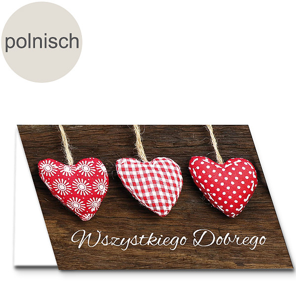 """Polnische Motivkarte: """"Alles Liebe"""""""