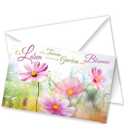 """Decoration Card """"Ein Leben ohne Träume…"""""""