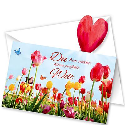 """Greeting Card """"u bist meine kleine perfekte Welt"""""""