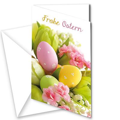 """Motivkarte Osterstrauß """"Frohe Ostern"""""""