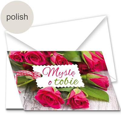 """Polish Greeting Card: """"I'm thinking of you"""""""