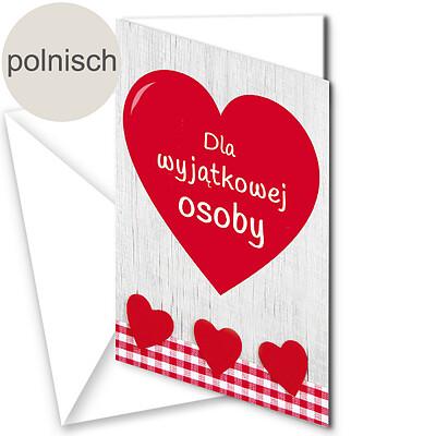 """Polnische Motivkarte: """"Für einen besonderen Menschen"""""""