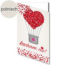 """Polnische Motivkarte: """"Ich liebe Dich"""""""