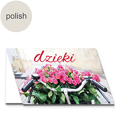 "Polish Greeting Card: ""Thanks"""