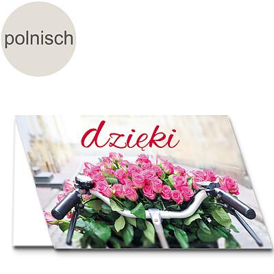 "Polnische Motivkarte: ""Danke"""