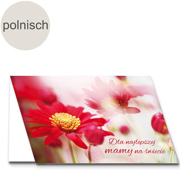 "Polnische Motivkarte: ""Beste Mama"""
