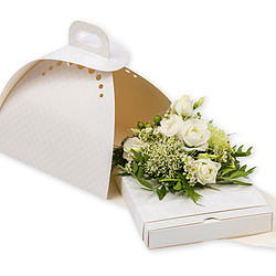 Gift box in white