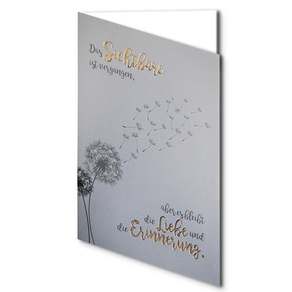 """Greeting Card dandelion """"Das Sichtbare ist vergangen..."""""""