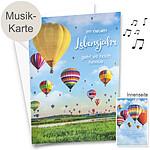 """Musik-Karte """"Zum Geburstag"""" mit Ballons"""