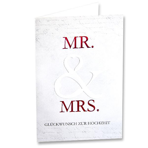 """Motivkarte """"Mr. & Mrs. - Glückwunsch zur Hochzeit"""""""