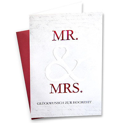 "Greeting Card ""Mr. & Mrs. - Congratulations on the wedding"""