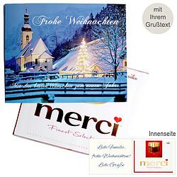 Persönliche Grußkarte mit Merci: Weihnachtszauber