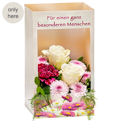 "Flowers in a window box ""Besonderer Mensch"""