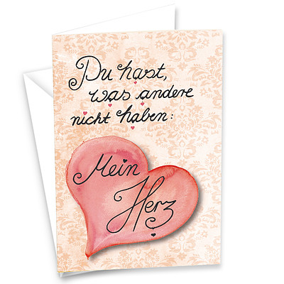 """Motivkarte """"Mein Herz"""""""