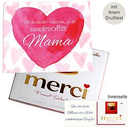 Persönliche Grußkarte mit Merci: Wundervollste Mama