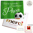 Persönliche Grußkarte mit Merci: Wunderbarster Papa