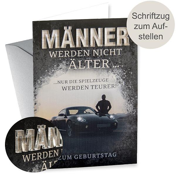 "Motivkarte Geburtstag mit Acryl-Schriftzug ""MÄNNER"""