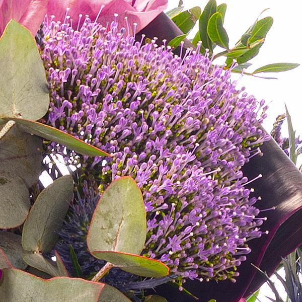 Blumenstrauß Meisterwerk mit Vase & Ferrero Raffaello