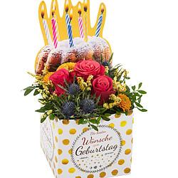 """Blumenbox """"Die besten Wünsche zum Geburtstag"""""""