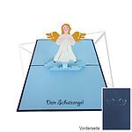 Kirigami-Klappkarte Schutzengel