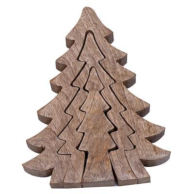 Holz-Tannenbäume