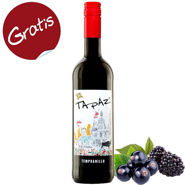 "Rotwein ""Tempranillo Vino D'España Tapaz®"" (0,75l)"