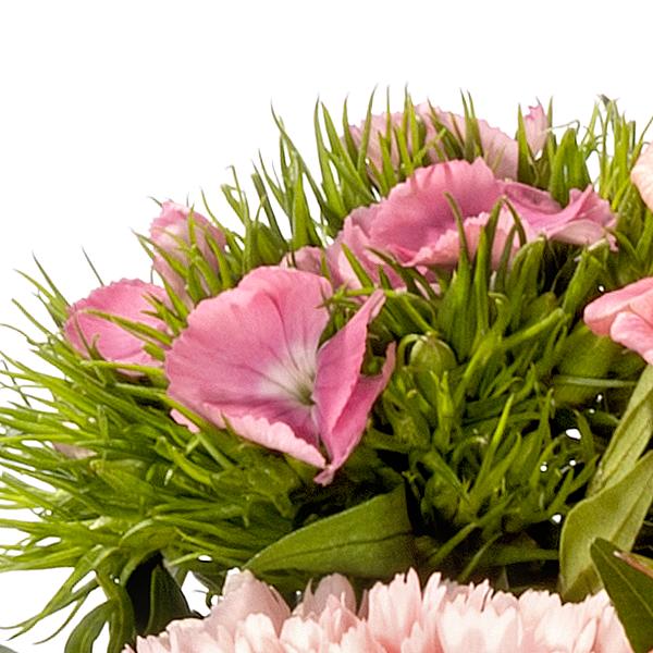 Flower Bouquet Sonnenaufgang with vase & Ferrero Raffaello