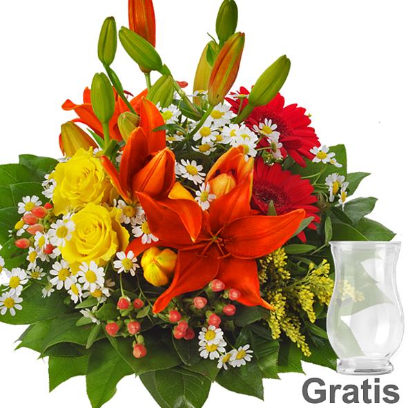 Blumenstrauß Symphonie mit Vase