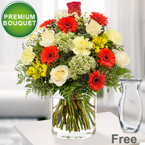 Fresh Flower Delivery GERMINIS Bouquet FREE MESSAGE CARD Mothers Day  flowers