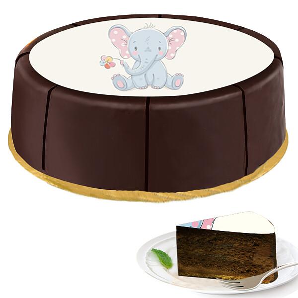 """Motiv-Torte """"Elefant"""""""