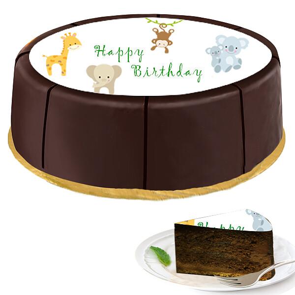 """Motif Cake """"Zoo Animals"""""""