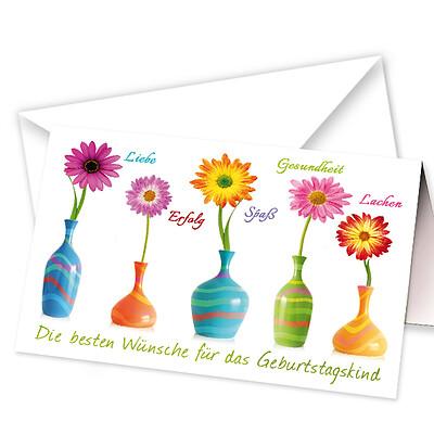 """Motivkarte """"Die besten Wünsche für das Geburtstagskind"""""""