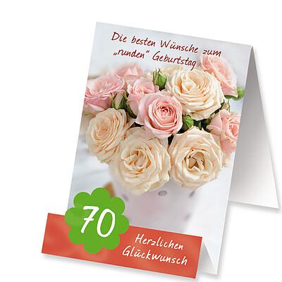 """Aufstellkarte """"Zum 70. Geburtstag"""""""