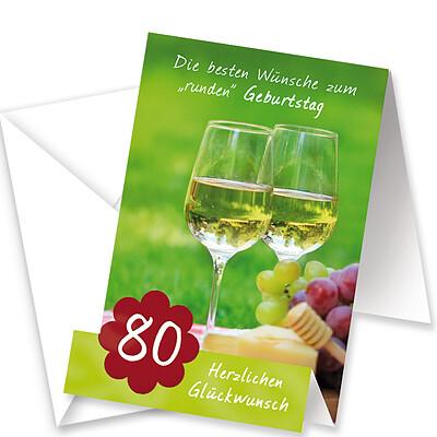 """Aufstellkarte """"Zum 80. Geburtstag"""""""
