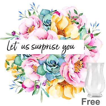 Surprise Flower Bouquet with vase