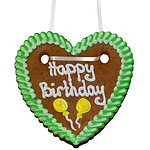 """Lebkuchenherz """"Happy Birthday"""""""