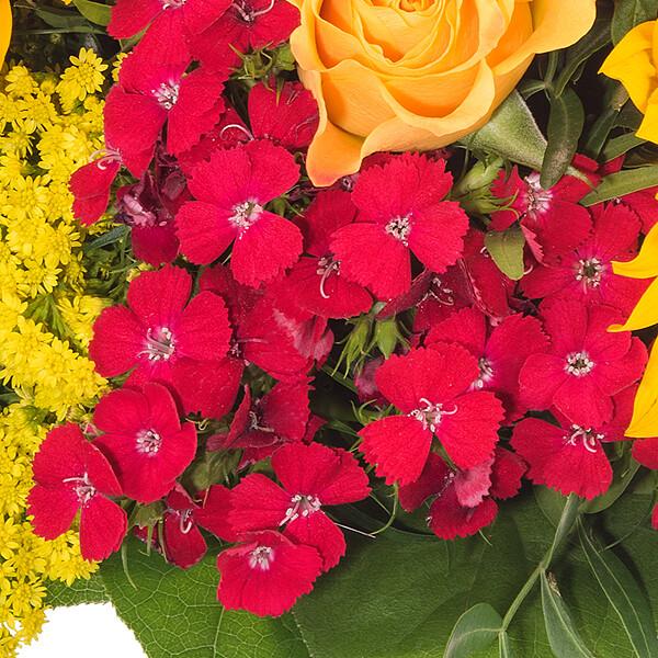 Blumenstrauß Sommergefühl mit Vase