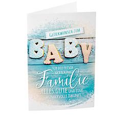 """Motivkarte """"Glückwunsch zum Baby"""""""
