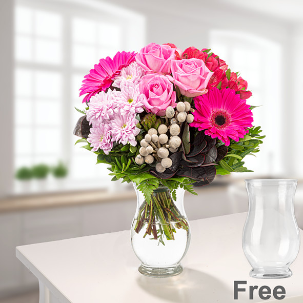 Flower Bouquet Ambiente with vase