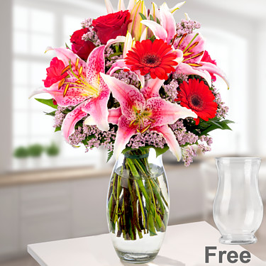 Flower Bouquet Karat with vase