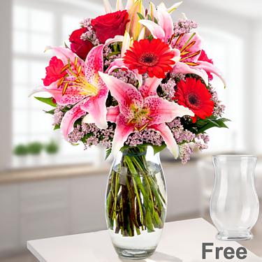 Flower Bouquet Karat with vase