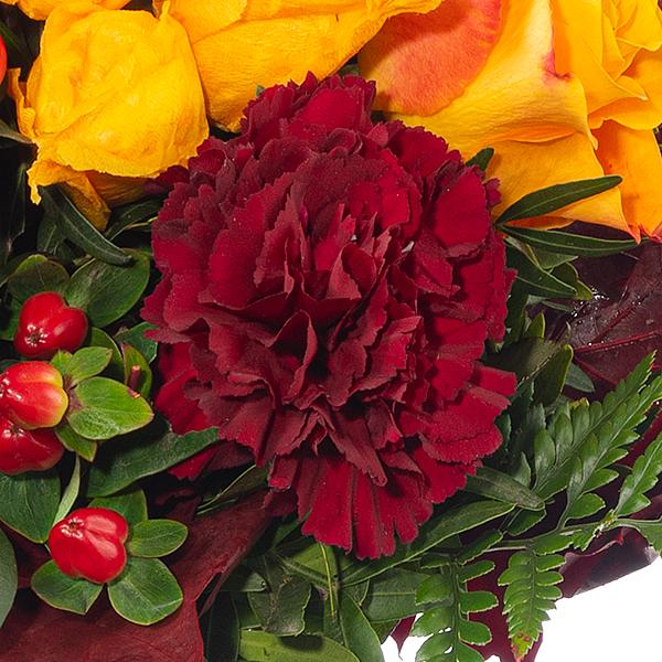 Blumenstrauß Blütengold mit Vase