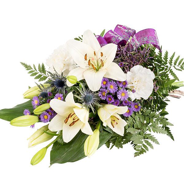 Symbathy Arrangement with chrysanthemums