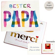 Persönliche Grußkarte mit Merci: Bester Papa