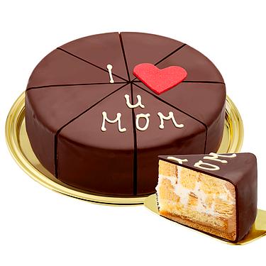 """German Pyramid Cake """"I love u MOM"""""""