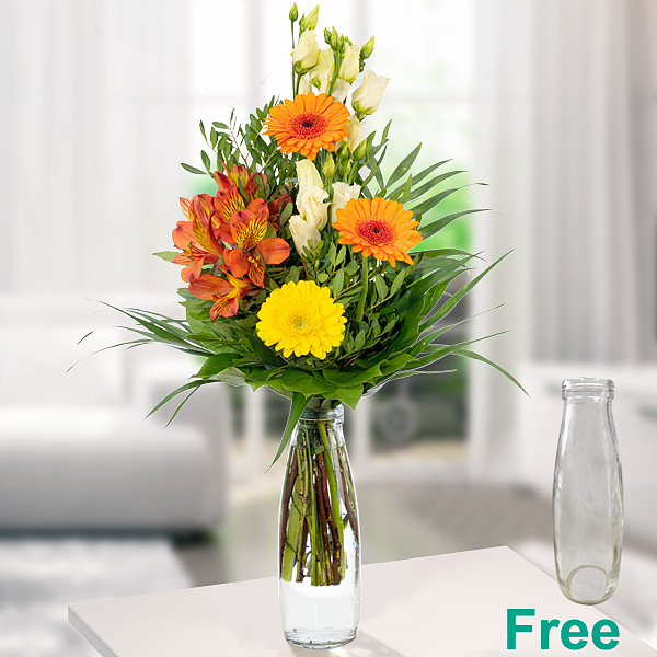 Flower Arrangement Sommermorgen with vase