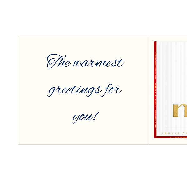 Personal greeting card with Merci: Alles Liebe (250g)