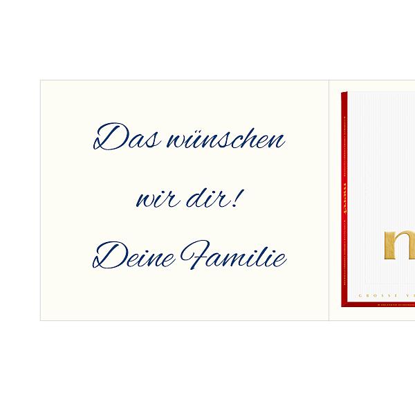 Persönliche Grußkarte mit Merci: Alles Gute zum Geburtstag (250g)