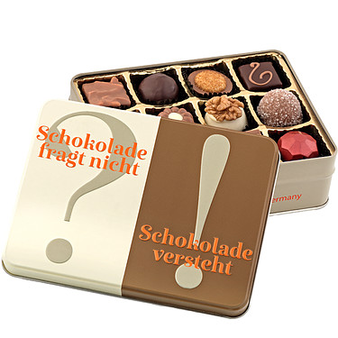 "Gift box ""Chocoalte don't ask..."""